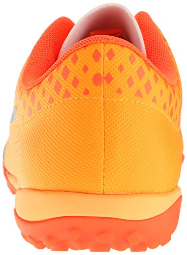 Puma Mens evoPOWER Vigor 4 TT Soccer Shoe Ultra Yellow-peacoat-orange Clown Fish