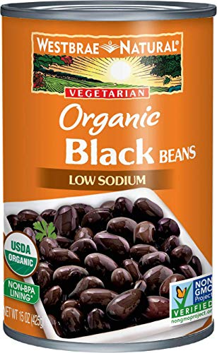 Westbrae Natural Organic Black Beans, 15 Ounce Cans, Pack of 12 (Packaging May Vary)