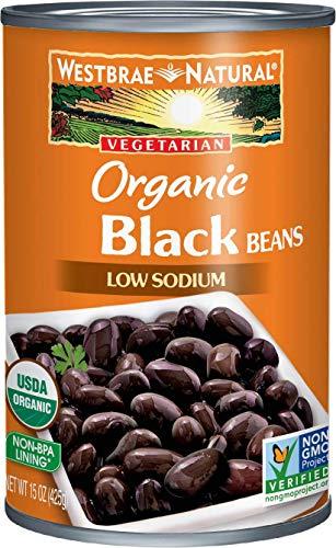 Vegan Black Beans - Westbrae Natural Organic Black Beans, 15 Ounce Cans, Pack of 12 (Packaging May Vary)
