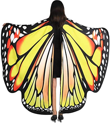 YXwin Halloween Costumes for Women Butterfly Wings Bluegreen for Adult Women