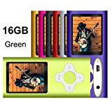 G.G.Martinsen 16 GB MP3/MP4 Portable Player with Mini USB Port, Plum Button and 1.78 LCD - Green