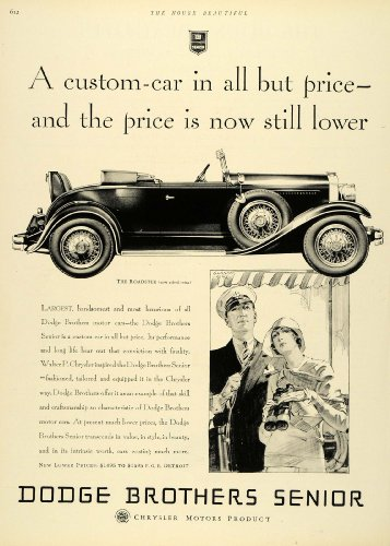 Review 1929 Ad Dodge Brothers