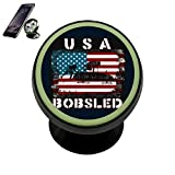 PG-Gai America Bobsled National Flag Universal Magnetic Car Mount - Ultra-Compact 360 Rotation Phone Holder Dashboard Mount