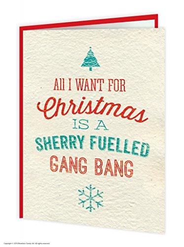 Christmas Gang Bang - Brainbox Candy Funny Rude Humorous 'Sherry Fuelled Gang Bang' Christmas Xmas Card