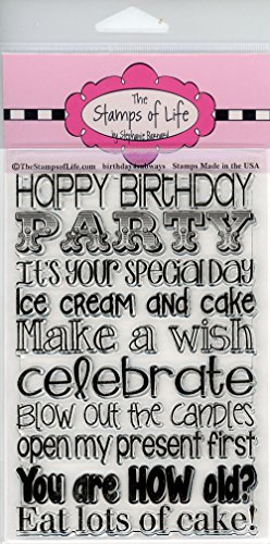 - Patterns Happy Birthday Stamps for Card-Making and Scrapbooking by The Stamps of Life - Birthday4Subway