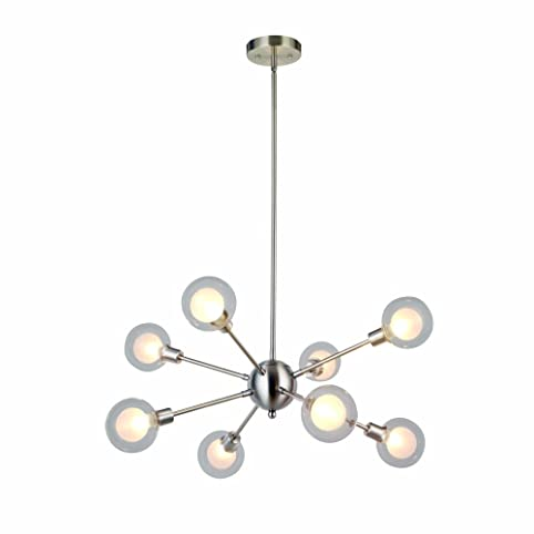 Amazon modern sputnik chandelier lighting g9 40w bulbs modern sputnik chandelier lighting g9 40w bulbs included glass sphere 8 lights mid century mozeypictures Images