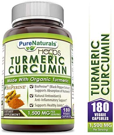 Pure Naturals Turmeric Curcumin BioPerine