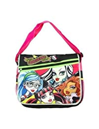 """Monster High Messenger Bag """"Pink Vicious"""" with Pink Insulated Lunch Bag"""