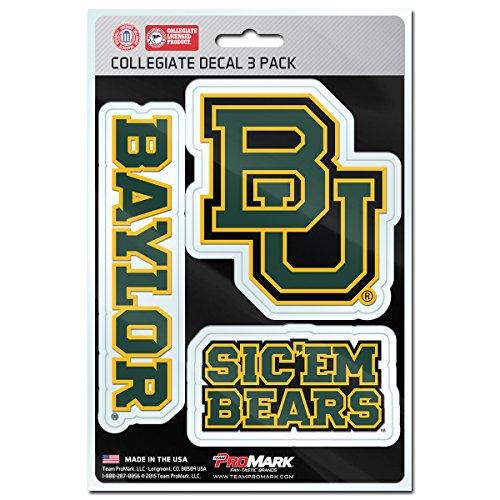 Ncaa Basketball Baylor Bears (NCAA Baylor Bears Team Decal, 3-Pack)