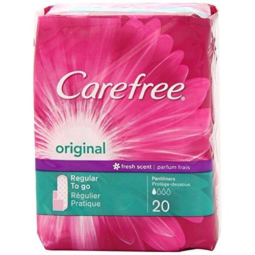 Price comparison product image Carefree Pantiliners Orinal Regular To Go Fresh Scent ,  20 Count