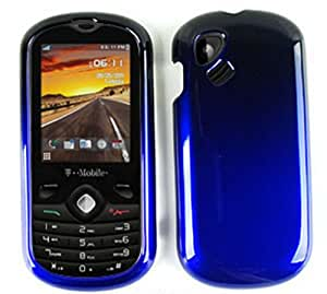 Alcatel Sparq 606a 2 Tone Shiny Hard Case Cover Black Blue A005-ICG