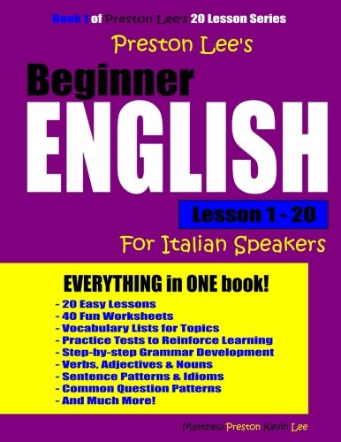 Download Preston Lee's Beginner English Lesson 1 - 20 For Italian Speakers PDF
