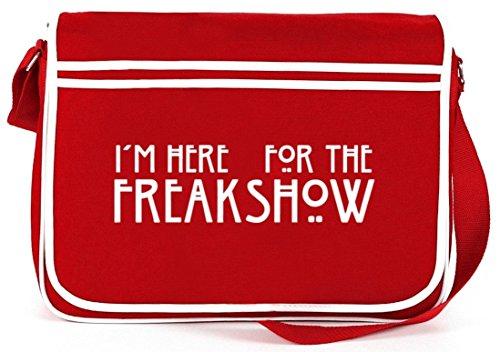 Shirtstreet24, AHS - Freak Show, Retro Messenger Bag Kuriertasche Umhängetasche Rot