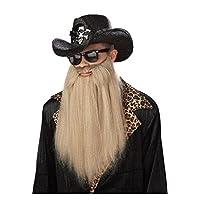 California Costumes Sharp Dressed Man Beard, Rubio, Accesorio de talla única