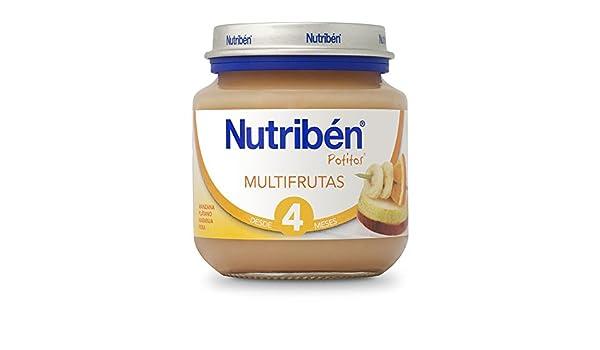 Nutribén - Potito Inicio Multifrutas - 130 gr: Amazon.es: Alimentación y bebidas