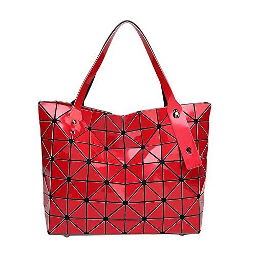 Géométrie Variété à Main Lingge Pliant à Bandoulière Coréenne Crossover Sac CY Main Red Sacs à Sac Bag nUqvW0Xg8