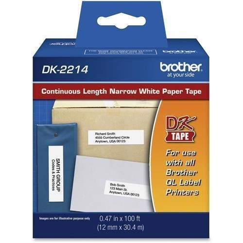 Brother DK-2214 CONT LENGTH PAPER LABEL 1/2IN WIDE FOR QL-500/QL-550 (DK2214) by ()
