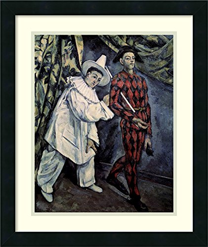 Harlequin And Pierrot Costumes (Framed Art Print 'Pierrot and Harlequin (Mardi Gras) 1888' by Paul Cezanne)