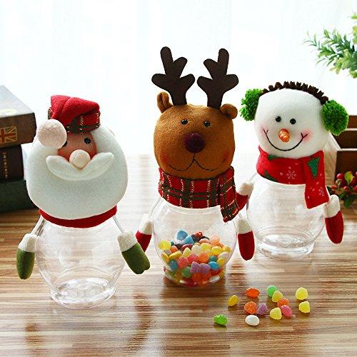 Navidad Candy Dish Caja botella de Navidad Candy Jar Candy caja azucarero recipiente de regalo de Navidad con diseño de juguetes elk: Amazon.es: Hogar