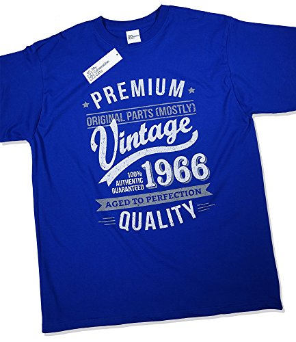 1966 Vintage Year - Aged to Perfection - 50th Birthday Gift / Present T-Shirt Mens