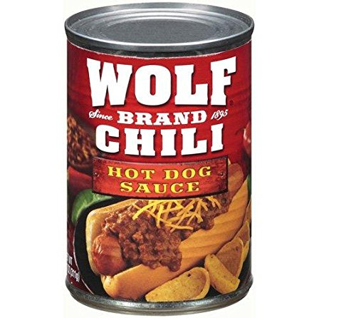 Hot Chili Sauce Recipes (Wolf Brand Chili Texas Recipe Hot Dog Sauce (Pack of 3) 10 oz Cans)
