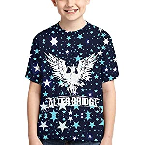 John J Littlejohn Alter-Bridge Boy'S T-Shirts 3D Printed T-Shirt for Toddlers Kid'S Short-Sleeve Casual Tee