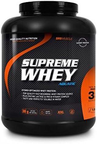 SRS Muscle - Supreme Whey XXL, 1.900 g, Cookies & Cream | Hydro-optimized Whey Protein | mit Enzym Laktase und...