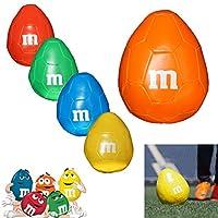 2x M & M s seltenes Original m-ball Weich Plüsch American Football Ei...