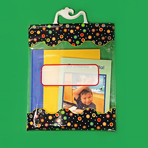 Creative Teaching Press 10 1/2 x 12 1/2 Inches Storage Bags, Dots on Black (2957) ()