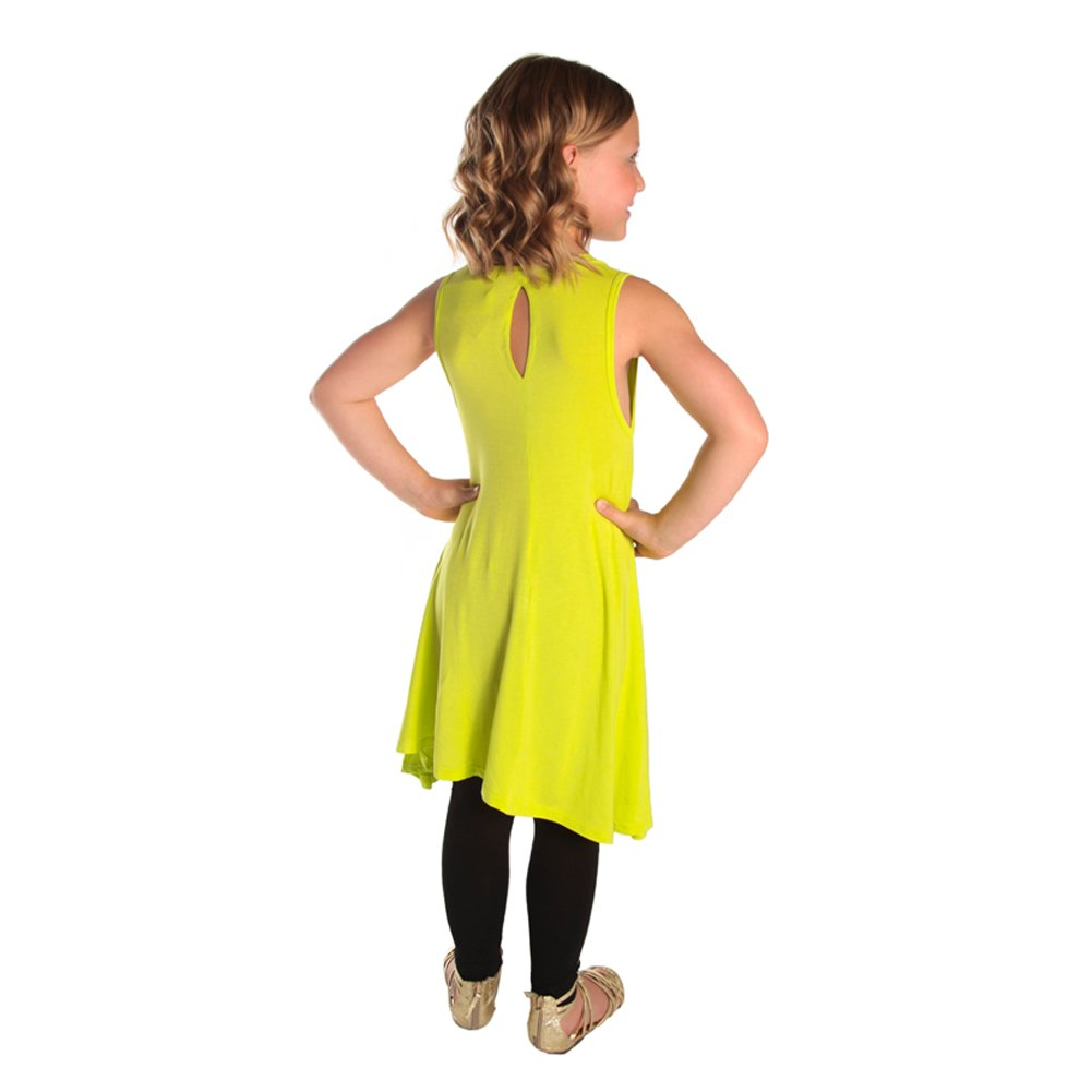 Infant Toddler Girls Neon Tunic Knee Length Tank Top Sleeveless Shirt