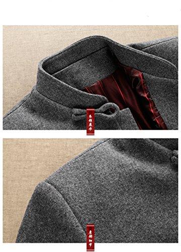 Wool High-end Tang Suit Medium Long Coats National Costume Characteristic Dress Retro Jackets Coats Men's Dress Full Dress by BAOLUO-Tang Suit (Image #2)