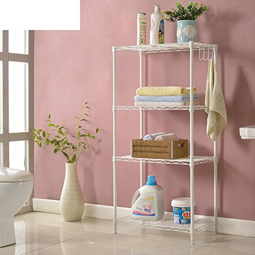 Space living living room racks/kitchen bathroom floor to ceiling shelves/versatile storage rack/four-story frame clapboard racks-B well-wreapped