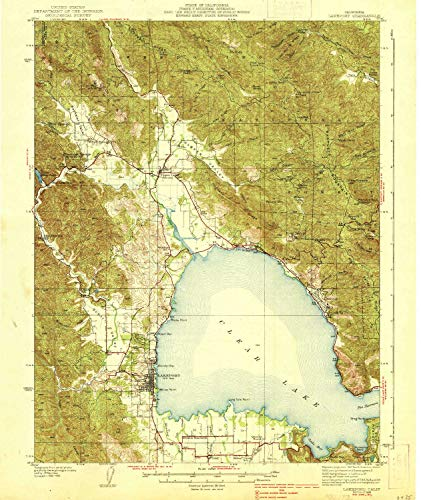 Alder Outdoor Chair (YellowMaps Lakeport CA topo map, 1:62500 Scale, 15 X 15 Minute, Historical, 1938, 19.8 x 16.6 in - Paper)