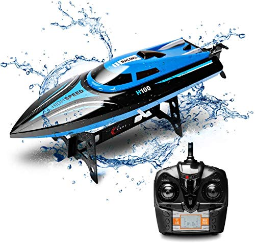 DeXop Remote Control Boat Rc Boat with High Speed Radio Remote Control Electric Racing Boat for Children, Adults, Works…