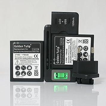 MIA. Home] 2 x batería 1700 mAh + universal-cargador F ...