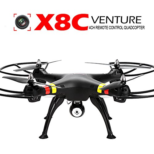 Syma X8C Venture with 2MP Wide Angle Camera 2.4G 4CH RC Quadcopter – Black