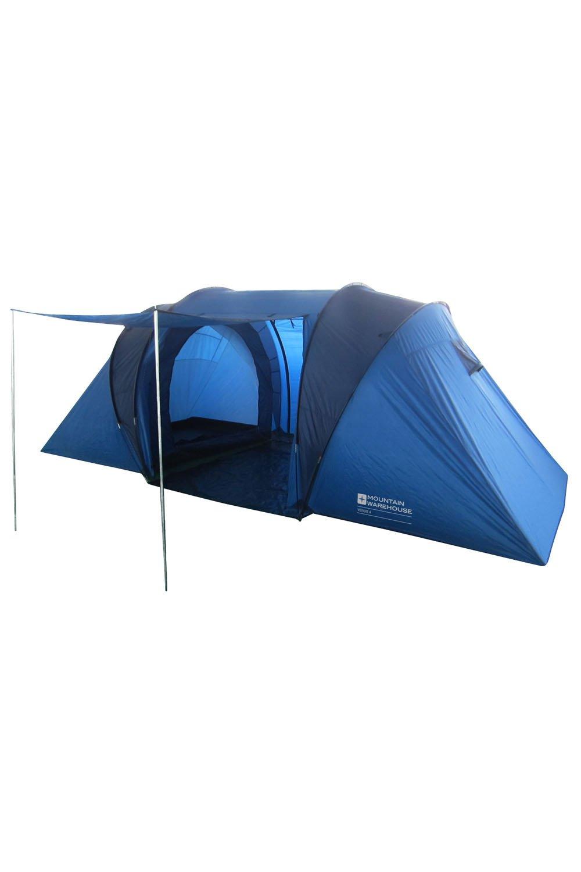 Mountain Warehouse Venus 4 Man Tent - Waterproof FlysheetTaped Seems C&ing Tent Durable  sc 1 st  Amazon UK & Kingfisher Unisex 2 Bedroom Camping Tent Blue 4 Persons: Amazon ...
