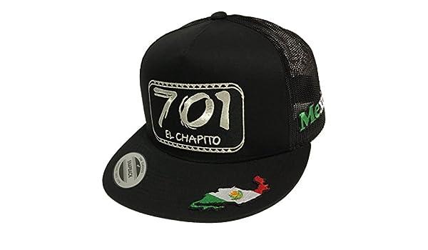 8e4fa25bd67 El Chapito 701 3 Logos Hat Black Mesh Snapback at Amazon Men s Clothing  store