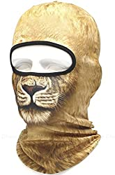 Dhana Style Quick Dry Balaclava Outdoor Headgear UV Protection 3D Full Face Mask Windproof Cycling Breathable Polyester Bike CS Hat Neck Hood Type:ANML-NML
