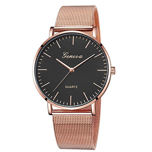 Woman Classic Quartz Watch,  kolo FINE Fashion Strap Travel Souvenir Birthday Gifts Analog Steel Dial Leather Band Sky Magnet Casual Geneva Stainless Steel Bracelet Wrist for Girl Female (G) ()