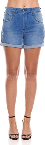 Shorts Fran, Forum, Feminino, Índigo, 34