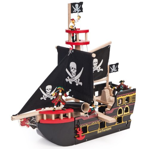 (Le Toy Van Pirates Playset, Barbarossa Ship)