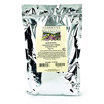 Starwest Botanicals Kava Kava Root Powder, 1 Pound