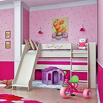 Jugendzimmer Kinderzimmer Hochbett Spielbett mit Rutsche 80 ...