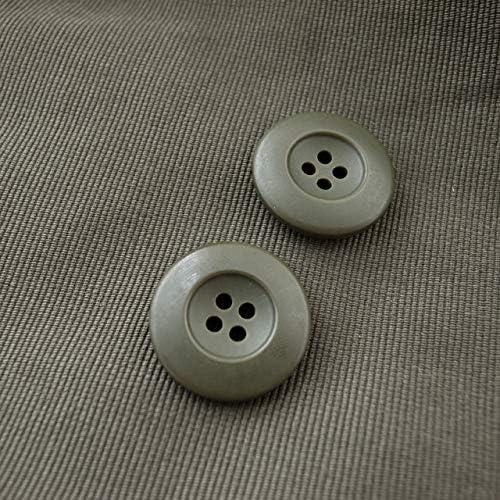 【シンプルデザイン】ミリタリーボタン #CF3 4穴 23mm C/#66 カーキ 2個セット