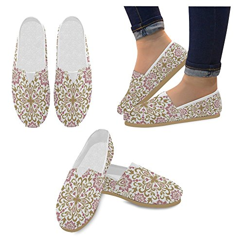 InterestPrint Canvas Womens 9 Fashion Slip Classic Loafers Sneakers Flats Shoes On Multi Casual IfwdIrx