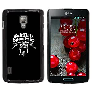 Be-Star Único Patrón Plástico Duro Fundas Cover Cubre Hard Case Cover Para LG Optimus L7 II P710 / L7X P714 ( Speedway Motorcycle Black Biker )