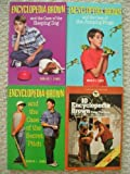Encyclopedia Brown Set (Takes the Case, Case of the Jumping Frogs, Case of the Secret Pitch, Case of the Sleeping Dog)