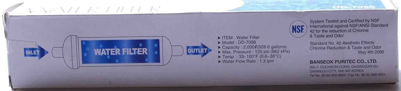 Banseok Puritec DD-7098 - Filtro de agua externo vertical original ...