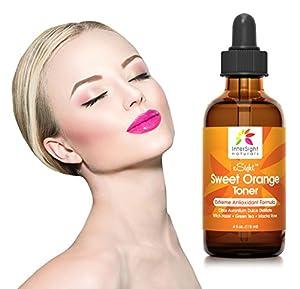xSight Sweet Orange Skin Toner by InterSight for Face - HUGE 4 Oz - #1 Natural Antioxidant Facial Toner with Citrus Aurantium Dulcis Distillate, Aloe, Green Tea, Macha Rose - Organic Exfoliant
